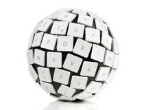 Concepto de la bola del teclado fotografía de archivo libre de regalías