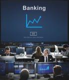 Concepto de la bolsa de acción de las finanzas de las actividades bancarias del negocio Fotografía de archivo libre de regalías
