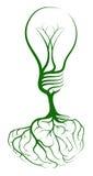 Concepto de la bombilla del cerebro Fotografía de archivo libre de regalías