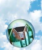 Concepto de la burbuja del mercado inmobiliario Fotos de archivo