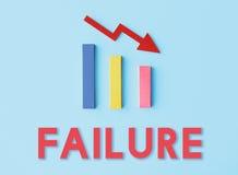 Concepto de la caída de la dificultad del riesgo de la deuda Imagen de archivo libre de regalías
