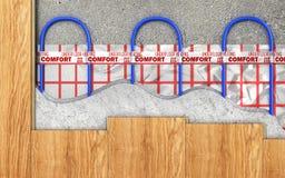 Concepto de la calefacción Calefacción por el suelo libre illustration