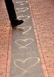 Concepto de la calle del amor Imágenes de archivo libres de regalías