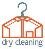 Concepto de la camisa de la suspensión de ropa de la limpieza en seco libre illustration