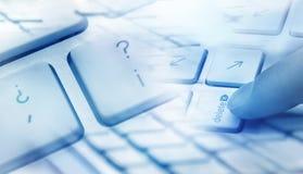 Concepto de la cancelación del teclado Imágenes de archivo libres de regalías