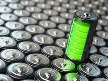 Concepto de la carga de batería Energía verde, fondo del battarie Fotografía de archivo libre de regalías