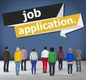 Concepto de la carrera de Job Application Applying Recruitment Occupation Imagenes de archivo