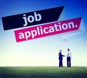 Concepto de la carrera de Job Application Applying Recruitment Occupation Foto de archivo