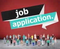Concepto de la carrera de Job Application Applying Recruitment Occupation Imagen de archivo libre de regalías