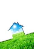 Concepto de la casa de Eco Imágenes de archivo libres de regalías