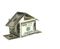 Concepto de la casa del dólar Foto de archivo libre de regalías