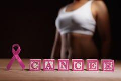 Concepto de la causa del cáncer de pecho Fotografía de archivo