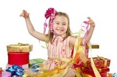 Concepto de la celebración con la muchacha Foto de archivo libre de regalías