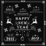 Concepto de la celebración de la Feliz Año Nuevo Foto de archivo libre de regalías