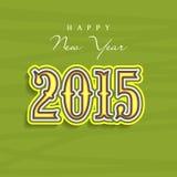 Concepto 2015 de la celebración de la Feliz Año Nuevo Foto de archivo libre de regalías