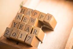 Concepto de la celebración 2017 de la Feliz Año Nuevo Fotos de archivo libres de regalías