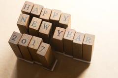 Concepto de la celebración 2017 de la Feliz Año Nuevo Foto de archivo libre de regalías
