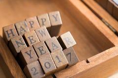 Concepto de la celebración 2017 de la Feliz Año Nuevo Imagen de archivo