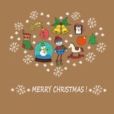 Concepto de la celebración de la Navidad ilustración del vector
