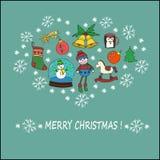Concepto de la celebración de la Navidad libre illustration