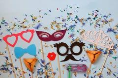 Concepto de la celebración de Purim y x28; holiday& judío x29 del carnaval; Foto de archivo libre de regalías