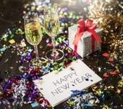 Concepto de la celebración del partido del Año Nuevo Imágenes de archivo libres de regalías