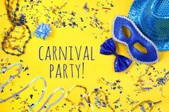 concepto de la celebración del partido del carnaval Imagen de archivo