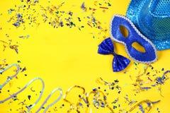 concepto de la celebración del partido del carnaval Imagen de archivo libre de regalías