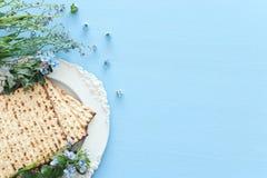Concepto de la celebración de Pesah y x28; día de fiesta judío de la pascua judía fotografía de archivo libre de regalías