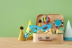 Concepto de la celebración de Purim y x28; holiday& judío x29 del carnaval; imagen de archivo libre de regalías
