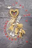Concepto de la cena de la tarjeta del día de San Valentín Imagen de archivo libre de regalías