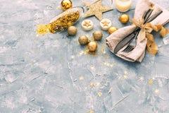 Concepto de la cena de la Feliz Año Nuevo fotos de archivo