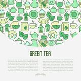 Concepto de la ceremonia de té verde ilustración del vector