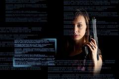 Concepto de la ciberdelincuencia Foto de archivo libre de regalías