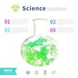 Concepto de la ciencia de la química Imagenes de archivo