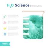 Concepto de la ciencia de la química Imagen de archivo