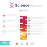 Concepto de la ciencia de la química Fotografía de archivo
