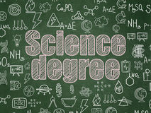 Concepto de la ciencia: Grado de la ciencia en fondo del consejo escolar Foto de archivo