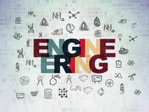 Concepto de la ciencia: Ingeniería en fondo del papel de datos de Digitaces Imagenes de archivo