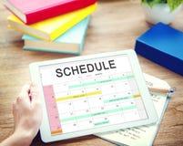 Concepto de la cita del calendario de la actividad del horario Fotos de archivo libres de regalías