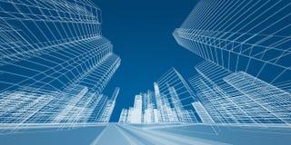 Concepto de la ciudad stock de ilustración