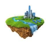Concepto de la ciudad de Eco Imagen de archivo