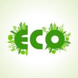 Concepto de la ciudad de Eco con el texto del eco Imágenes de archivo libres de regalías