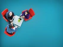 Concepto de la colaboración del trabajo en equipo de la estrategia del planeamiento de la reunión de reflexión imagen de archivo libre de regalías