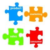 Concepto de la comercialización stock de ilustración