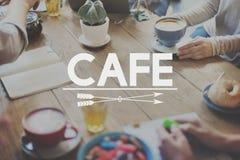 Concepto de la comida de la cocina del abastecimiento de la cafetería del café Fotografía de archivo libre de regalías