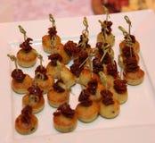 Concepto de la comida del abastecimiento del restaurante de Italia de la cena de la comida fría Foto de archivo