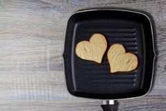 Concepto de la comida del amor Fotografía de archivo libre de regalías