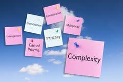 Concepto de la complejidad Foto de archivo