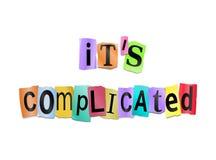 Concepto de la complicación. Fotografía de archivo libre de regalías